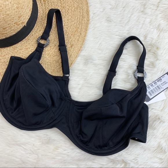 balcony bikini top FANTASIE Swim Orlando Underwire Balcony Bikini Top NWT